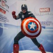 Постер, плакат: Captain America superhero at Games Week 2014 in Milan Italy