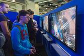 Люди, играющие в неделю игр 2014 в Милане, Италия — Стоковое фото