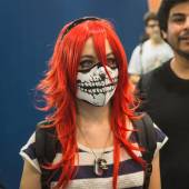 Cosplayer at Games Week 2014 in Milan, Italy — Stock Photo