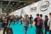 People visiting Games Week 2014 in Milan, Italy — Stock Photo