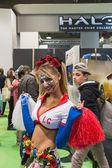 Cosplayer at Games Week 2014 in Milan, Italy — Stockfoto