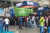People at Games Week 2014 in Milan, Italy — 图库照片