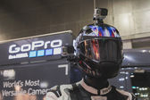 GoPro camera on display at EICMA 2014 in Milan, Italy — Stock Photo