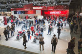 People at EICMA 2014 in Milan, Italy — Stock Photo