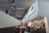 Detail of BMW stand at EICMA 2014 in Milan, Italy — Zdjęcie stockowe