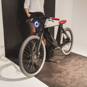 Bicycle on display at EICMA 2014 in Milan, Italy — 图库照片