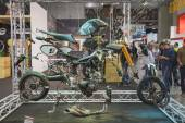 Breakdown of a motorbike at EICMA 2014 in Milan, Italy — Stockfoto