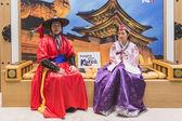 Pueblo coreano en Bit 2015, intercambio del turismo internacional en Milán, Italia — Foto de Stock