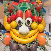 Mascot Foody posing Bit 2015, international tourism exchange in Milan, Italy — Stockfoto
