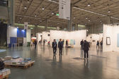 People visiting Miart 2015 in Milan, Italy — Stock Photo