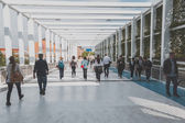 People visiting Expo 2015 in Mialn, Italy — Stock Photo