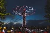Tree of Life in the evening at Expo 2015 in Milan, Italy — Stock Photo