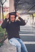 Young  man posing in an urban context — Stock Photo