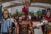 Historical Roman Group at Expo 2015 in Milan, Italy — Stock Photo