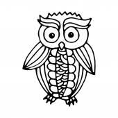 Funny owl illustration — Stock Vector