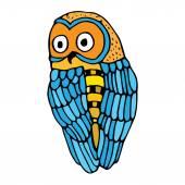Retro vivid owl illustration — Stock Vector