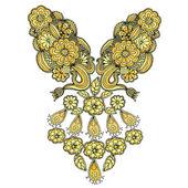 刺繍花柄 — ストックベクタ