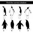 Find the correct shadow (penguin) — Stock Vector #77926104