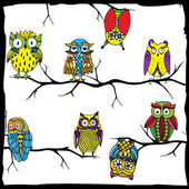 Owl world — Stock Vector