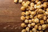 A lot of golden caramel corn background — Stock Photo
