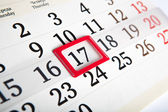Calendar days with numbers close up — Stock Photo