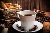 Coffee still life with cup of coffee — Stock Photo