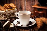 Koffie Stilleven met kop koffie — Stockfoto
