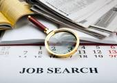 Office supplies and job search — Stock Photo