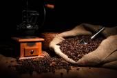 Caffè natura morta su un legno — Foto Stock