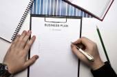 Businessman begins to plans — Stockfoto