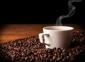 Coffee sill life with cup of coffee — Stock Photo