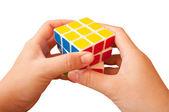 Solved Puzzle rubik cub — Photo