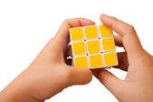 Solved Puzzle rubik cub — Stock Photo