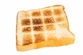 Toast a slice of bread  isolated on white background — Stock Photo