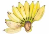 Pěstované banány v dřevěný stůl. — Stock fotografie