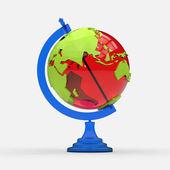 Colorful contemporary globe model. — Foto Stock