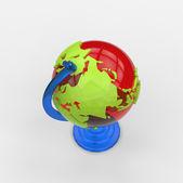 Colorful stylish globe model — Stock Photo