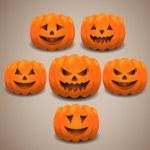 Halloween pumpkins set. Eps 10. — Stock Vector #52873515