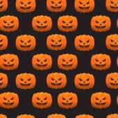 Halloween pumpkins pattern. Eps 10. — Vector de stock