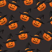 Halloween pumpkin seamless pattern. Eps 10. — Vecteur