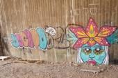 Eilat, Israele 15 febbraio 2015, Graffiti - arte di strada di artista sconosciuto — Foto Stock