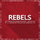 Rebellerna begreppet abstrakt grunge bakgrund, vektor illustration — Stockvektor