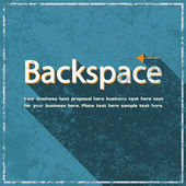 Backspace abstract grunge blue background, vector illustration  — Vetorial Stock