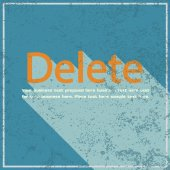 Delete abstract grunge blue background, vector illustration  — Vettoriale Stock