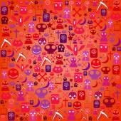 Halloween icon background, vector illustration  — Stock Vector