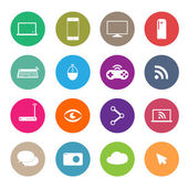 Icons social network, vector — Vector de stock