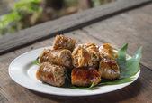 Grill Northern Thai Sausage — Stock Photo