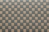 Old brown leather background by checkerboard pattern — Stok fotoğraf