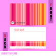 Modern Abstract colorful background template Business-Card Set — Stock Vector #58993727