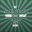 Valentines day up to sale 50 percent on scribble abstract pattern white — Stock Photo #62298331